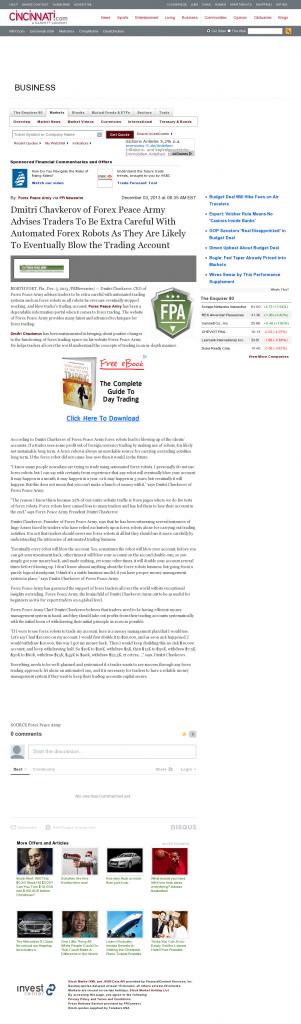 Trading Robots will Blow Trading Account Cincinnati Enquirer by Dmitri Chavkerov