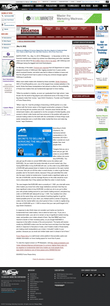 CitiGroup and JPMorgan Currency Rigging Education Technology News @ TMCnet by Dmitri Chavkerov
