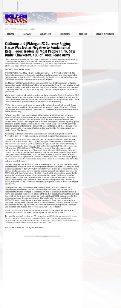 CitiGroup and JPMorgan Currency Rigging KUSI-TV IND-51 (San Diego, CA) by Dmitri Chavkerov