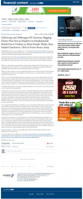 CitiGroup and JPMorgan Currency Rigging  The Sun News (Myrtle Beach, SC)  by Dmitri Chavkerov