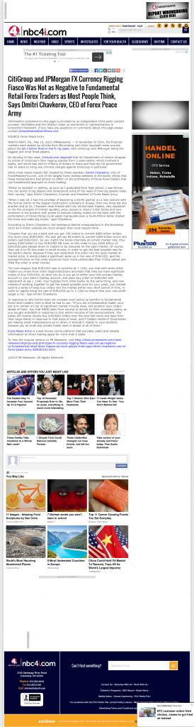 CitiGroup and JPMorgan Currency Rigging WCMH-TV NBC-4 (Columbus, OH) by Dmitri Chavkerov