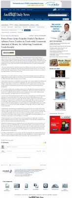 Money Making Opportunity Story in  Anchorage Daily News  by Forex Peace Army