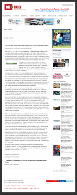 Money Making Opportunity Story in  Biz Daily (Singapore)  by Forex Peace Army