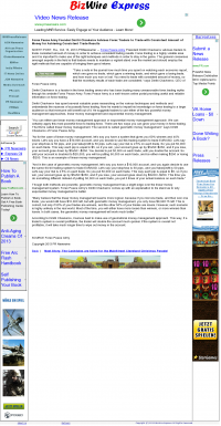 Money Making Opportunity Story in  Biz Wire Express  by Forex Peace Army
