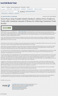 Money Making Opportunity Story in  InvestTalk  by Forex Peace Army