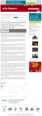 Money Making Opportunity Story in  Olympian (Olympia, WA)  by Forex Peace Army