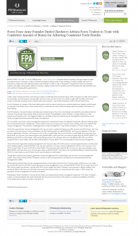 Money Making Opportunity Story in  PR Newswire  by Forex Peace Army