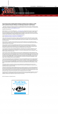 Money Making Opportunity Story in  The State Journal (Charleston, WV)  by Forex Peace Army