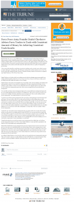 Money Making Opportunity Story in  Tribune (San Luis Obispo, CA)  by Forex Peace Army