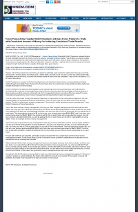 Money Making Opportunity Story in  WNEM-TV CBS-5 (Saginaw, MI)  by Forex Peace Army