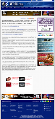 Money Making Opportunity Story in  WRIC ABC-8 (Richmond, VA)  by Forex Peace Army