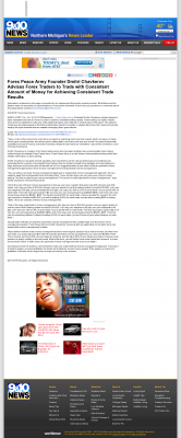 Money Making Opportunity Story in  WWTV-TV CBS-9 (Cadillac, MI)  by Forex Peace Army