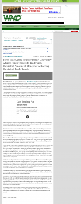 Money Making Opportunity Story in  WorldNetDaily  by Forex Peace Army