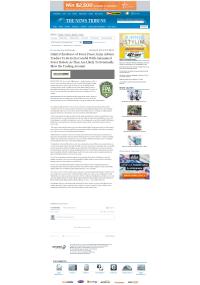 Trading Robots will Blow Trading Account  News Tribune (Tacoma, WA)  by Dmitri Chavkerov