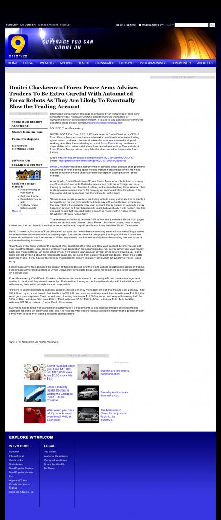 Trading Robots will Blow Trading Account WTVM ABC-9 (Columbus, GA) by Dmitri Chavkerov