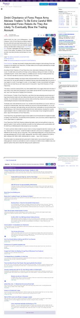 Trading Robots will Blow Trading Account Yahoo! Finance by Dmitri Chavkerov