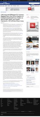 CitiGroup and JPMorgan Currency Rigging  Atlanta Business Chronicle  by Dmitri Chavkerov