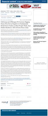 CitiGroup and JPMorgan Currency Rigging  Belleville News-Democrat  by Dmitri Chavkerov