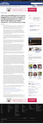 CitiGroup and JPMorgan Currency Rigging  Birmingham Business Journal  by Dmitri Chavkerov
