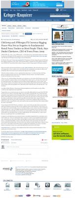 CitiGroup and JPMorgan Currency Rigging  Columbus Ledger-Enquirer (Columbus, GA)  by Dmitri Chavkerov