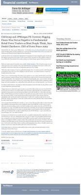 CitiGroup and JPMorgan Currency Rigging  Fort Worth Star-Telegram (Fort Worth, TX)  by Dmitri Chavkerov