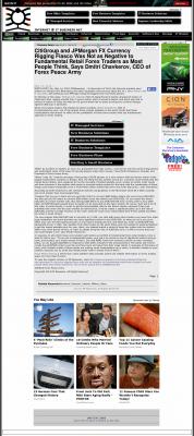 CitiGroup and JPMorgan Currency Rigging  Internet @ ITBusinessNet.com  by Dmitri Chavkerov