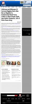 CitiGroup and JPMorgan Currency Rigging  KCBD NBC-11 (Lubbock, TX)  by Dmitri Chavkerov