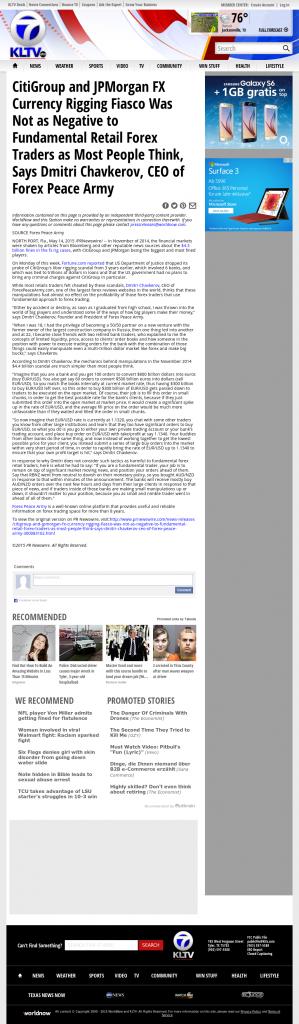 CitiGroup and JPMorgan Currency Rigging KLTV ABC-7 (Tyler, TX) by Dmitri Chavkerov