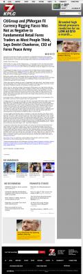 CitiGroup and JPMorgan Currency Rigging  KPLC NBC-7 (Lake Charles-Lafayette, LA)  by Dmitri Chavkerov