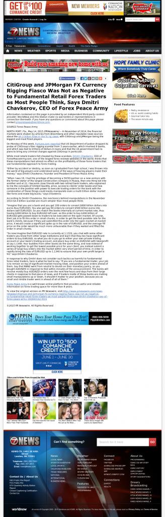 CitiGroup and JPMorgan Currency Rigging KSWO-TV ABC-7 (Lawton, OK) by Dmitri Chavkerov