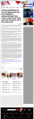 CitiGroup and JPMorgan Currency Rigging  KTRE ABC-9 (Lufkin, TX)  by Dmitri Chavkerov