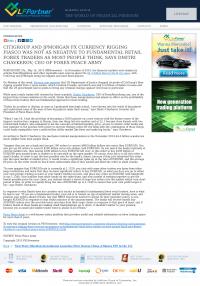 CitiGroup and JPMorgan Currency Rigging  LFPartner: LiteForex  by Dmitri Chavkerov