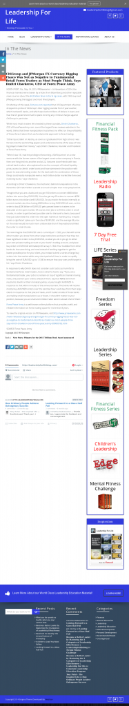 CitiGroup and JPMorgan Currency Rigging Leadership for LIFE by Dmitri Chavkerov