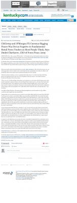CitiGroup and JPMorgan Currency Rigging  Lexington Herald-Leader (Lexington, KY)  by Dmitri Chavkerov