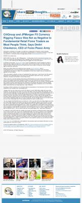 CitiGroup and JPMorgan Currency Rigging  NebraskaTV (Kearney, NE)  by Dmitri Chavkerov