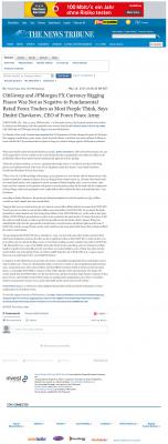 CitiGroup and JPMorgan Currency Rigging  News Tribune (Tacoma, WA)  by Dmitri Chavkerov