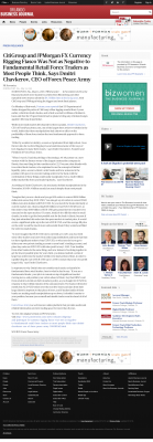 CitiGroup and JPMorgan Currency Rigging  Orlando Business Journal  by Dmitri Chavkerov