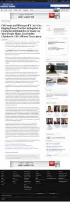 CitiGroup and JPMorgan Currency Rigging  Philadelphia Business Journal  by Dmitri Chavkerov