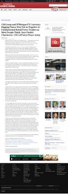 CitiGroup and JPMorgan Currency Rigging  Sacramento Business Journal  by Dmitri Chavkerov