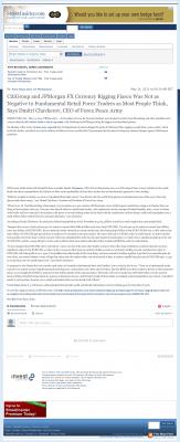CitiGroup and JPMorgan Currency Rigging  Street Insider  by Dmitri Chavkerov