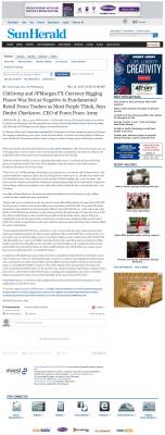 CitiGroup and JPMorgan Currency Rigging  Sun Herald (Biloxi, MS)  by Dmitri Chavkerov