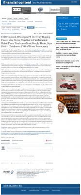 CitiGroup and JPMorgan Currency Rigging  The Sacramento Bee  by Dmitri Chavkerov
