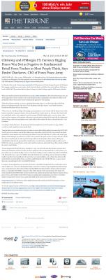 CitiGroup and JPMorgan Currency Rigging  Tribune (San Luis Obispo, CA)  by Dmitri Chavkerov