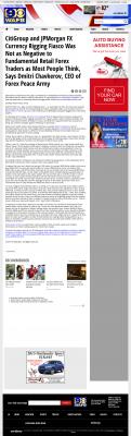 CitiGroup and JPMorgan Currency Rigging  WAFB CBS-9 (Baton Rouge, LA)  by Dmitri Chavkerov