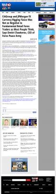 CitiGroup and JPMorgan Currency Rigging  WALB NBC-10 (Albany, GA)  by Dmitri Chavkerov