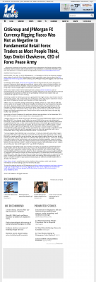 CitiGroup and JPMorgan Currency Rigging  WFIE NBC-14 (Evansville, IN)  by Dmitri Chavkerov