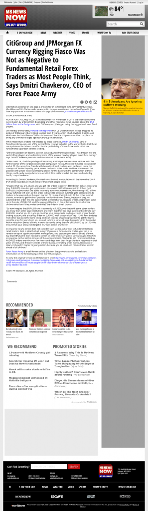 CitiGroup and JPMorgan Currency Rigging WLBT NBC-3 (Jackson, MS) by Dmitri Chavkerov