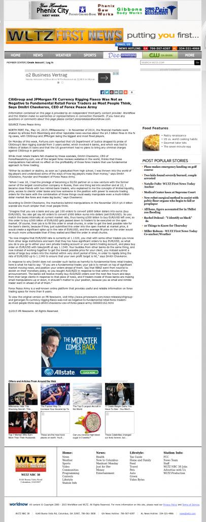 CitiGroup and JPMorgan Currency Rigging WLTZ-TV NBC-38 (Columbus, GA) by Dmitri Chavkerov