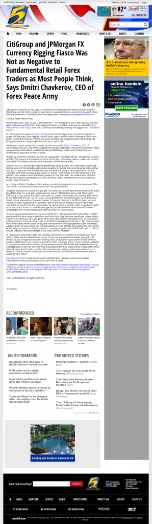 CitiGroup and JPMorgan Currency Rigging WMC NBC-5 (Memphis, TN) by Dmitri Chavkerov