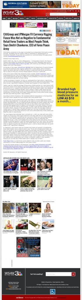 CitiGroup and JPMorgan Currency Rigging WSAV-TV NBC-3 (Savannah, GA) by Dmitri Chavkerov